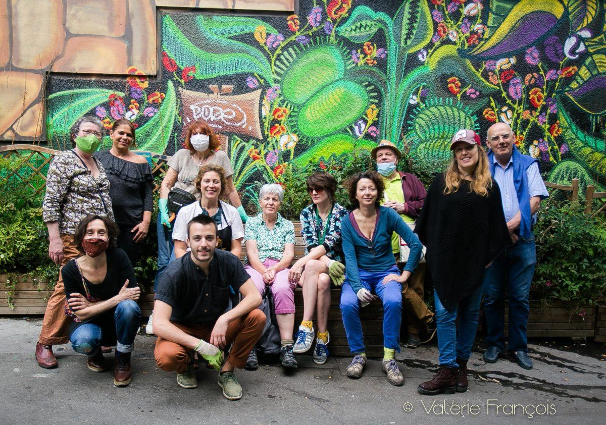 Les bénévoles de l'association Village Jourdain menée par Emilie Bourgouin